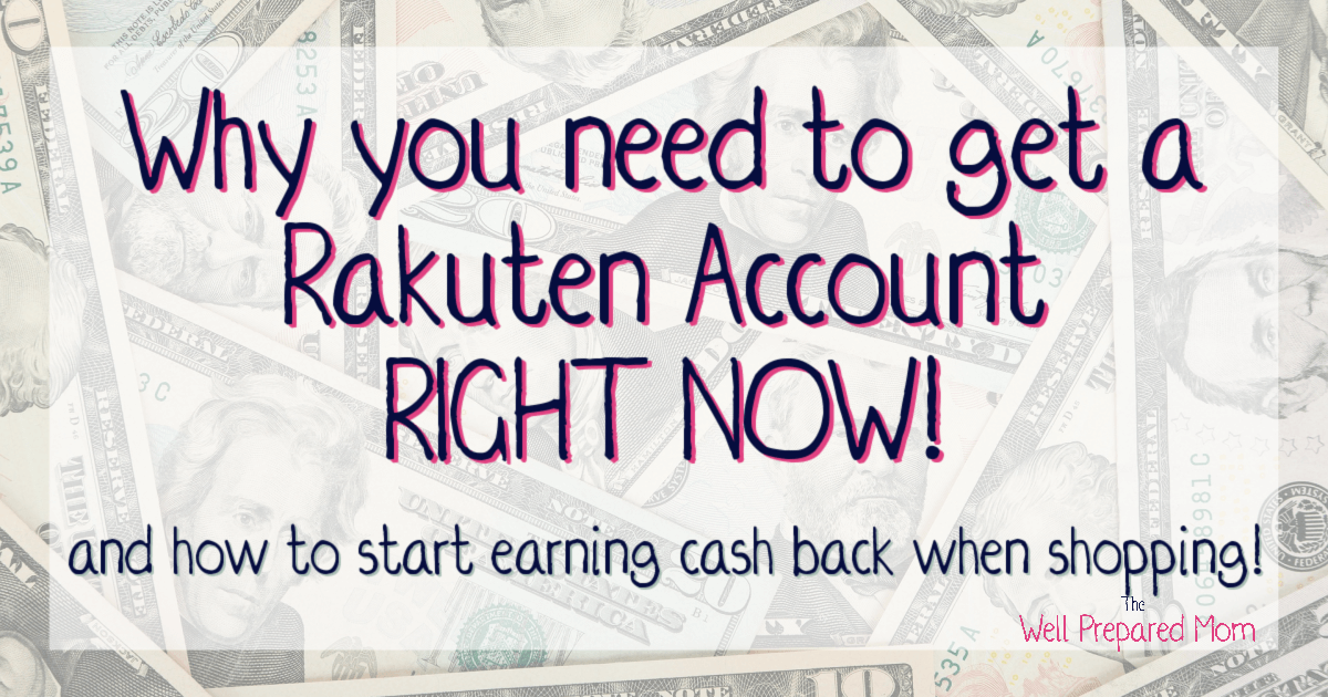 why you need to get a rakuten account right now text on cash background