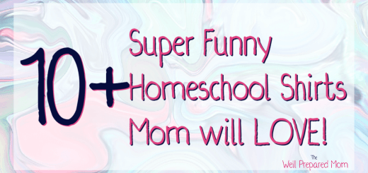 10+ super funny homeschool shirts mom will love text on marbled background