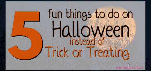 5 fun things to do on halloween instead of trick or treating text with full moon in background image