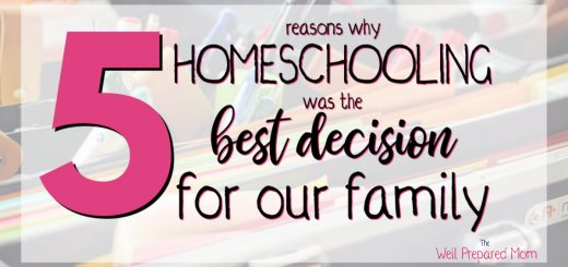 5 reasons why homeschooling was the best decision for our family text with school supplies in the background
