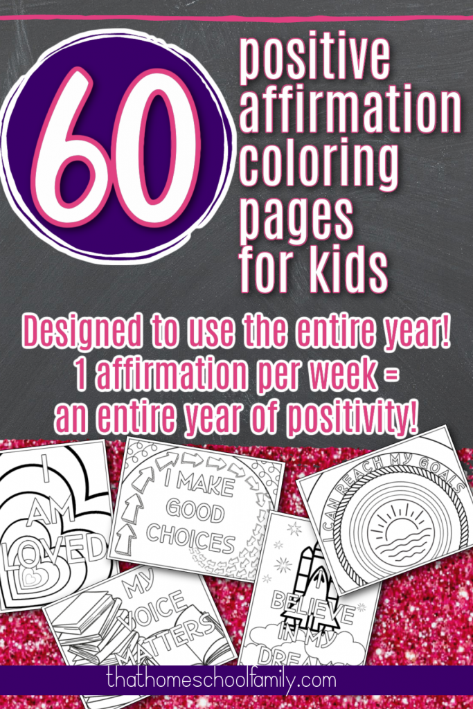 positive affirmation coloring pages for kids
