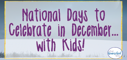 national days to celebrate in december with kids
