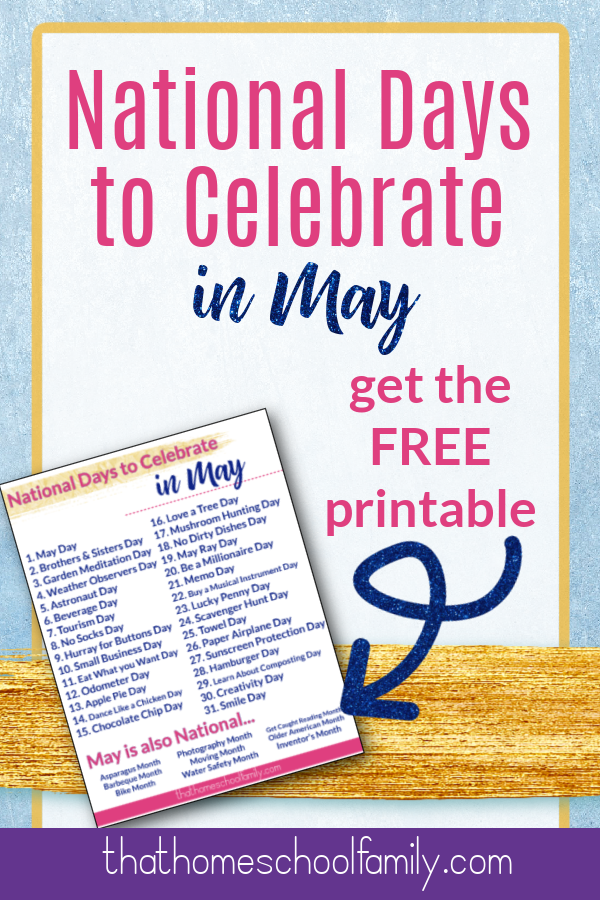 national days to celebrate in may get the free printable