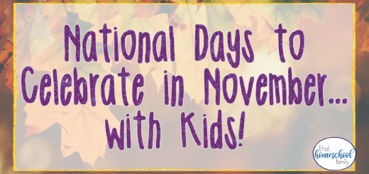 national days to celebrate in november with kids