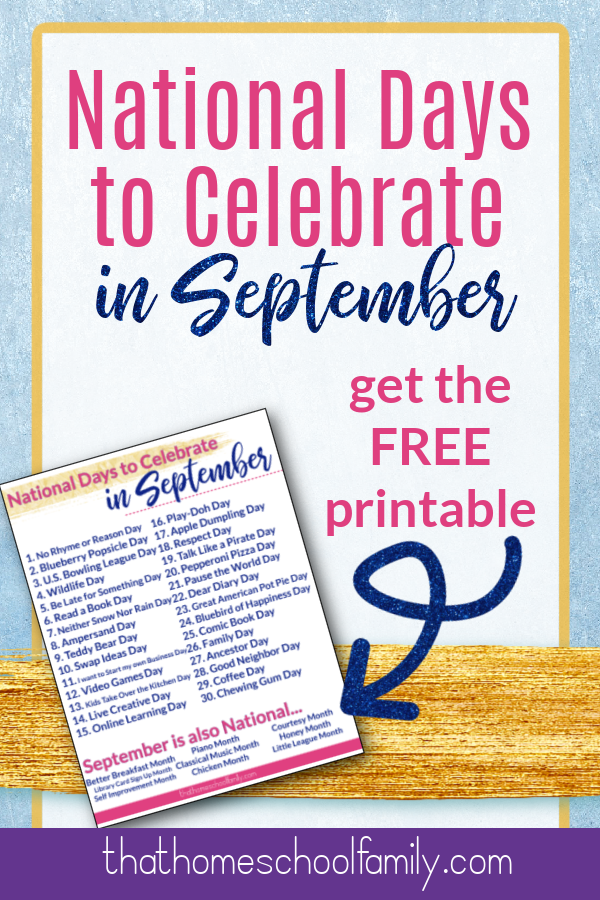 national days to celebrate in september, get the free printable