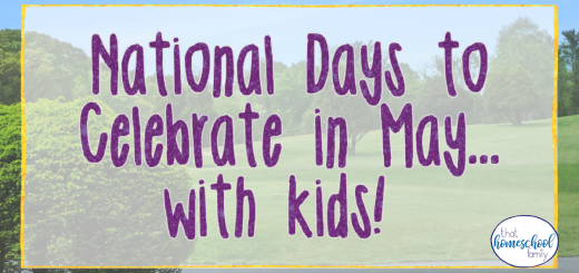national days to celebrate in may with kids
