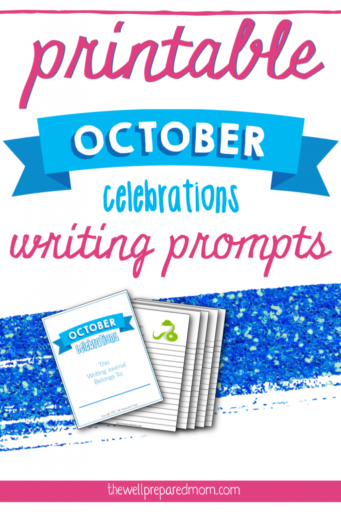 printable october celebrations writing prompts