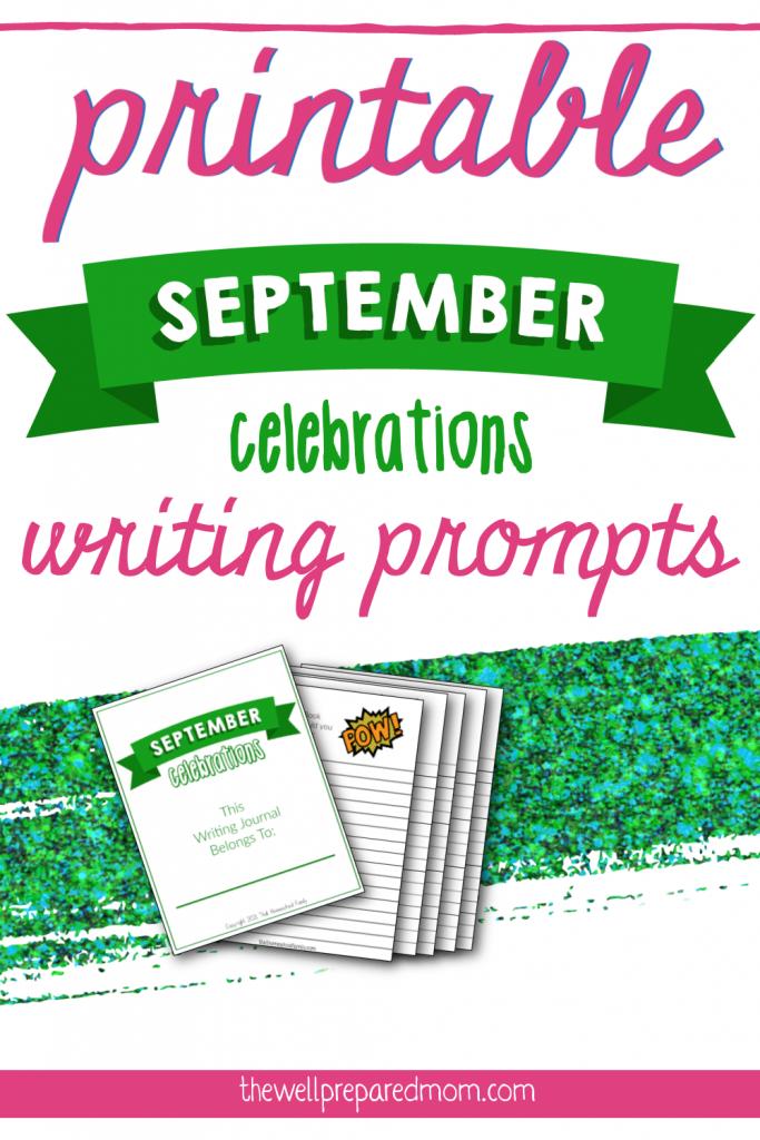 printable september celebrations writing prompts