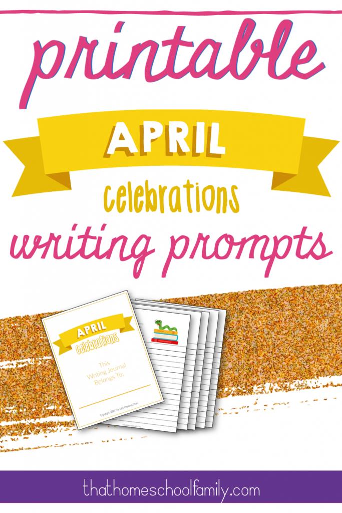 printable april celebrations writing prompts