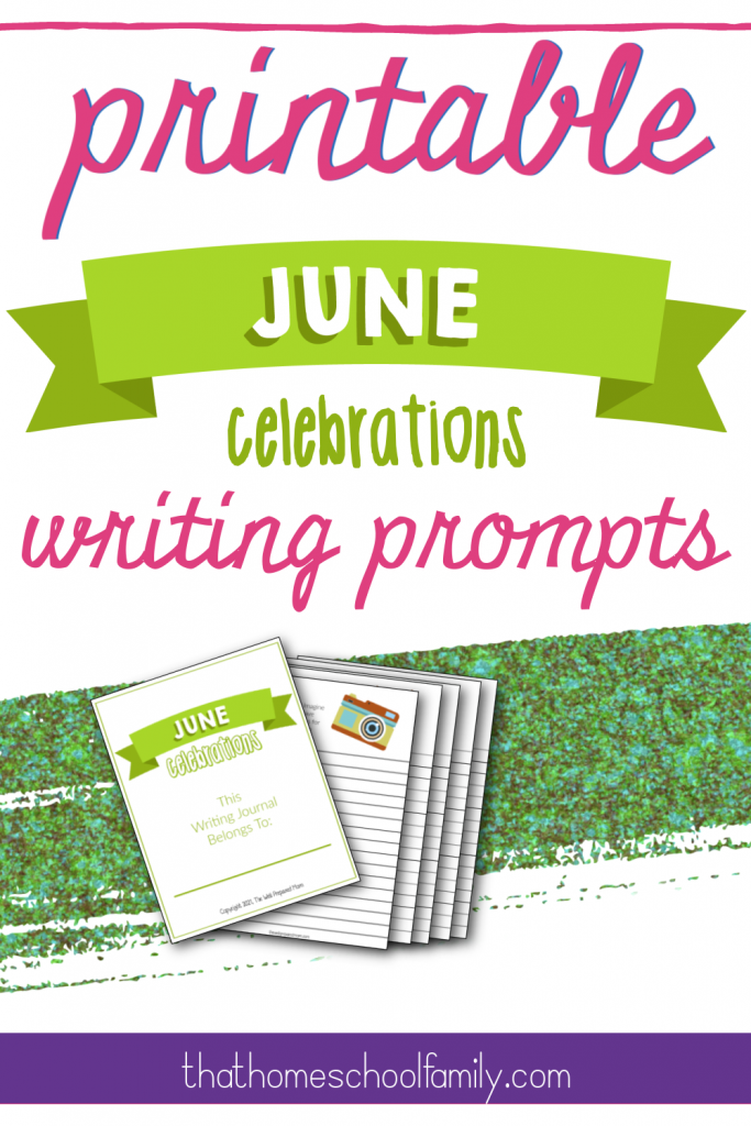 printable june celebrations writing prompts