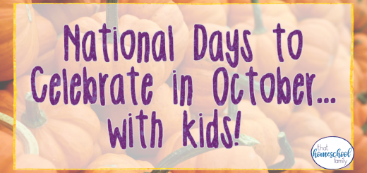 national days to celebrate in october with kids
