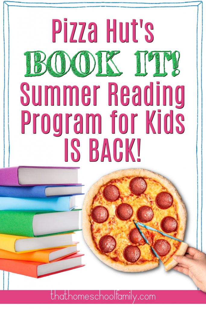 Pizza Hut's BOOT IT! Summer Reading Program for Kids is back!