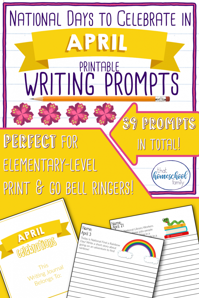 national days to celebrate in april writing prompts