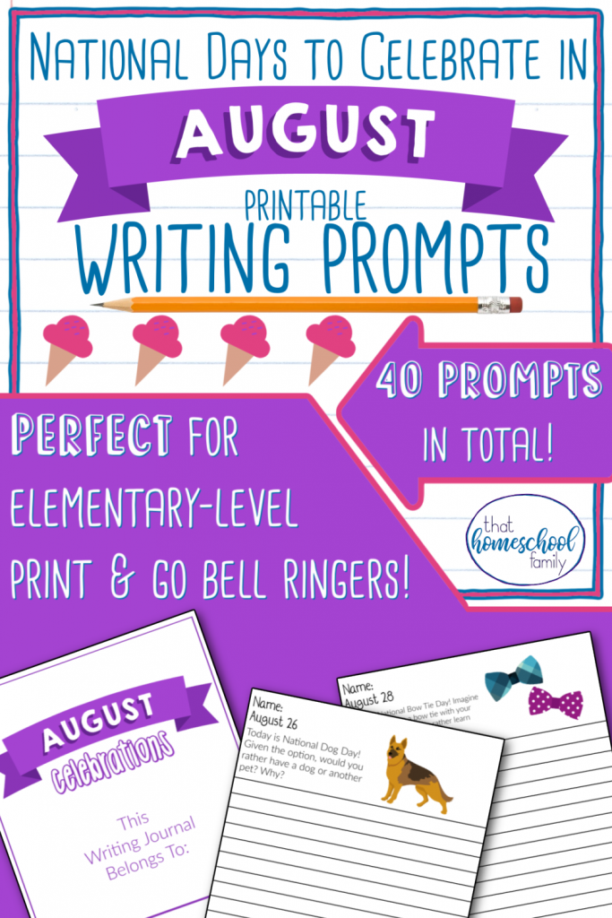 national days to celebrate in august writing prompts that homeschool family