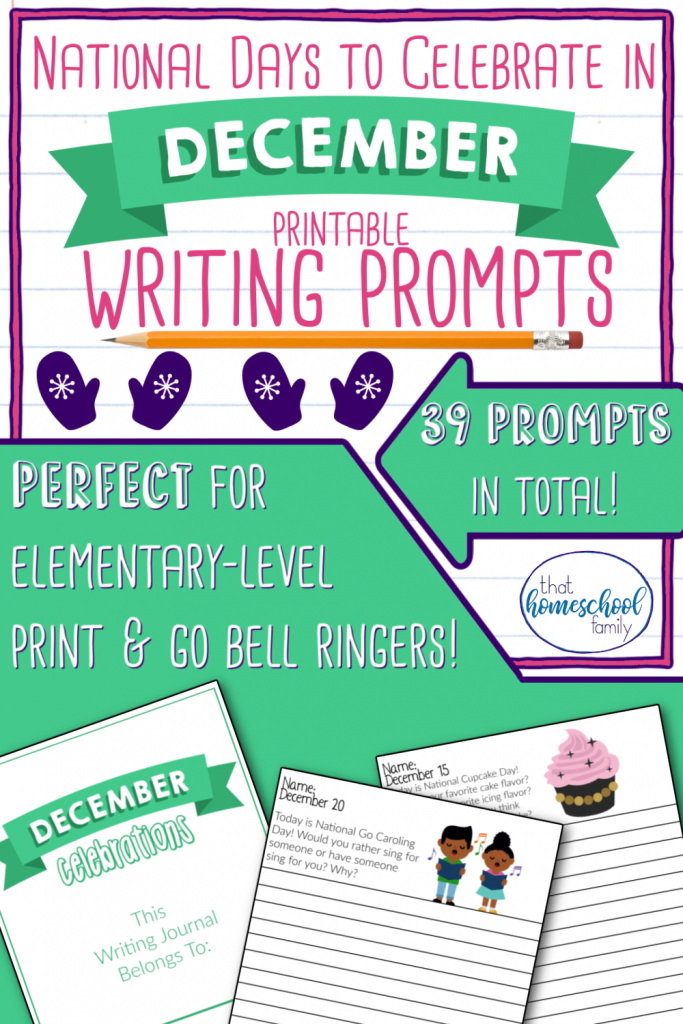 national days to celebrate in december writing prompts that homeschool family