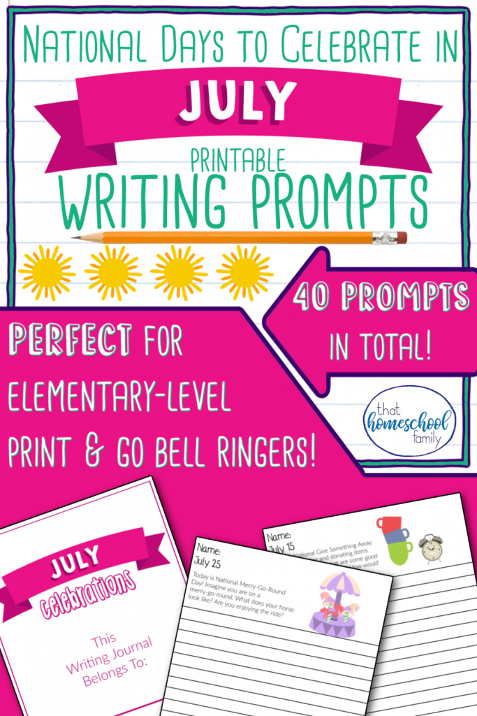 national days to celebrate in july writing prompts that homeschool family