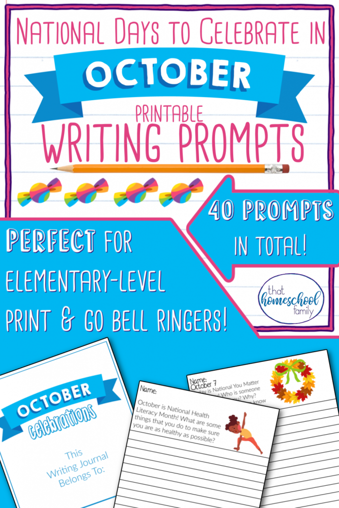 national days to celebrate in october writing prompts from that homeschool family