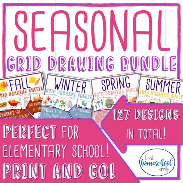 seasonal grid drawing bundle from That Homeschool Family