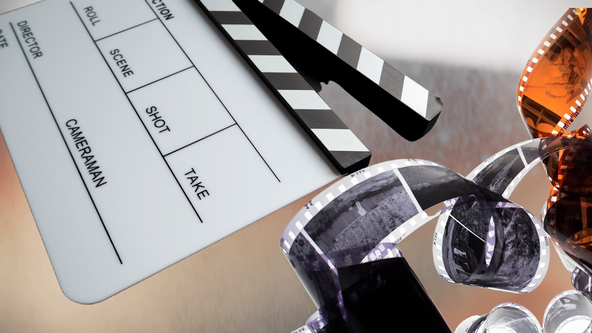 image of movie film and movie clapboard for the article Homeschooling with Documentaries made Easy from That Homeschool Family